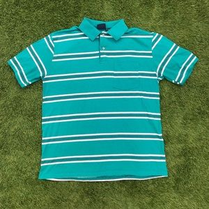 🌈 CHOOSE 3 for $30 VINTAGE stripe polo shirt